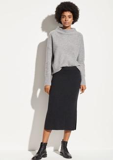 Vince Ribbed Wool Skirt