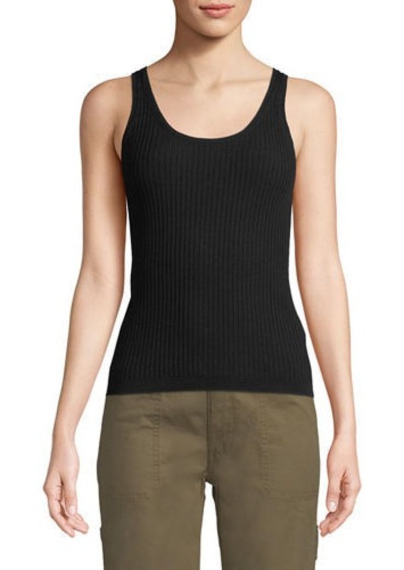 315d0ae2beca54 SALE! Vince Ribbed Wool-Stretch Scoop-Neck Tank Top