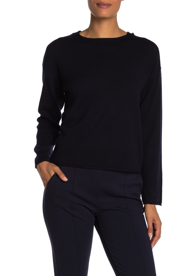 Vince Rolled Edge Wool & Cashmere Blend Hoodie