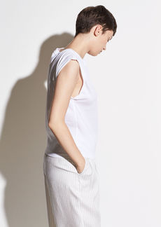 Vince Rolled Sleeve Cotton Tank