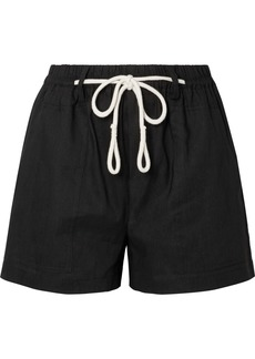 Vince Rope-trimmed linen-blend shorts