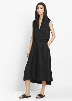 Ruched Sleeveless Dress