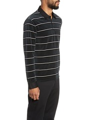 Vince Rugby Stripe Long Sleeve Polo