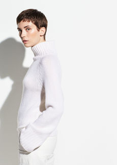 Vince Saddle Sleeve Cashmere Turtleneck