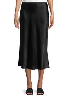 Vince Sateen Slip Midi Skirt
