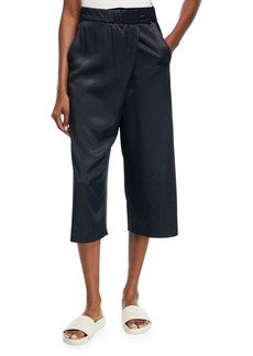 Vince Satin Crossover Culotte Pants