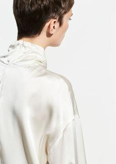 Vince Satin Drawstring Sweatshirt