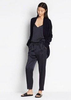 Satin Patch Pocket Pant