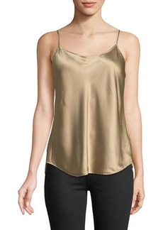 Vince Satin Scalloped Camisole Top