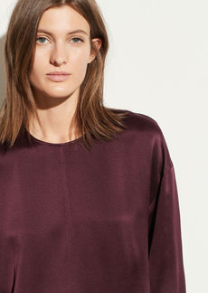 Vince Satin Seamed Front Blouse