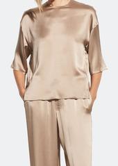 Vince Satin Side Slit T-Shirt - L - Also in: S, M