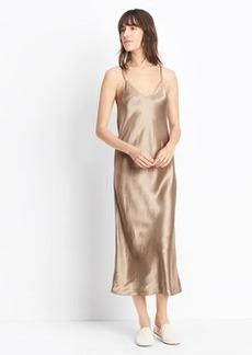 Vince Satin V-Neck Slip Dress