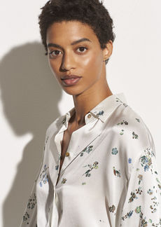 Vince Scattered Floral Satin Blouse