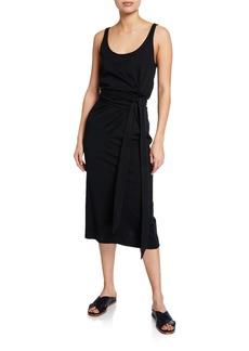 Vince Scoop-Neck Sleeveless Wrap Dress