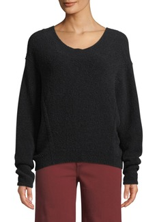 Vince Scoop-Neck Wool Dolman-Sleeve Sweater