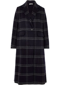 Vince Shadow Checked Wool-blend Coat