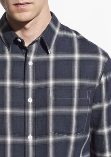 Vince Shadow Plaid Long Sleeve