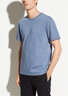 Vince Shadow Stripe Short Sleeve Crew