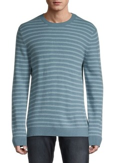 Vince Shadow Stripe Wool Crewneck Sweater