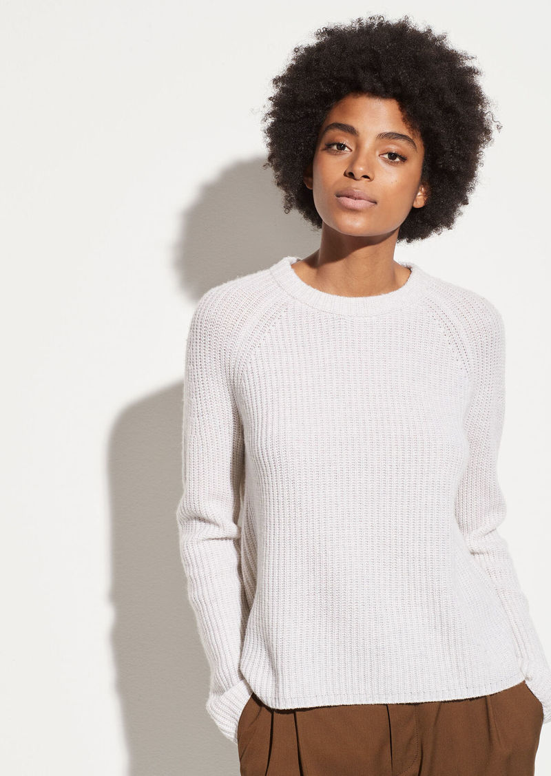 Vince Shaker Rib Cashmere Pullover