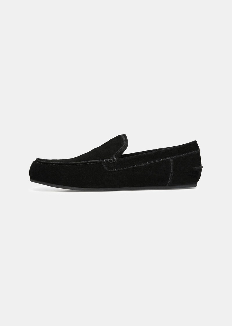 Vince Shearling-Lined Suede Gino Slipper