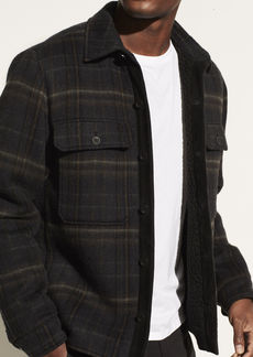 Vince Sherpa Plaid Utility Jacket