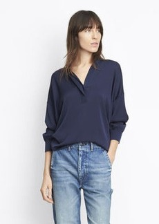 Shirred Back Pullover Blouse