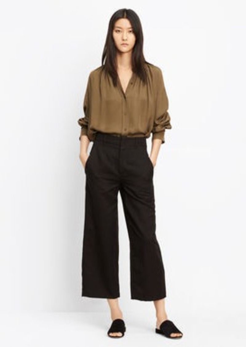 Vince Shirred Handstitch Blouse