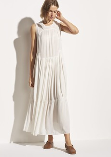 Vince Shirred Sleeveless Dress