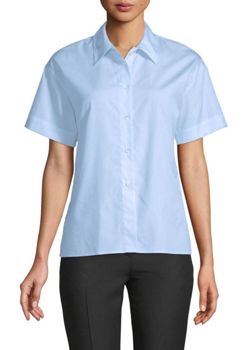 Vince Short-Sleeve Cotton Shirt