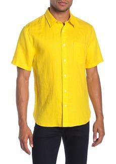 Vince Short Sleeve Linen Classic Fit Shirt