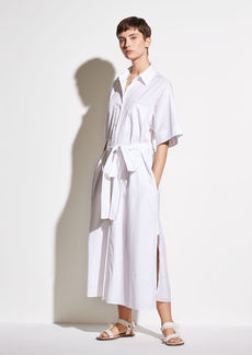 Vince Short Sleeve Utility Shirt Dress