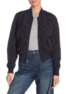 Vince Shrunken Crop Bomber Jacket