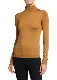 Vince Shrunken Merino Wool/Silk Turtleneck Sweater