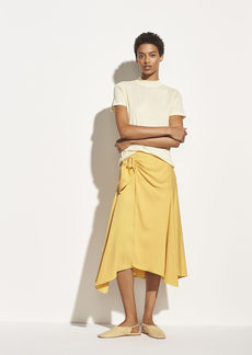 Vince Side Buckle Drape Skirt
