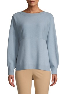 Vince Side-Slit Wool Cashmere Sweater