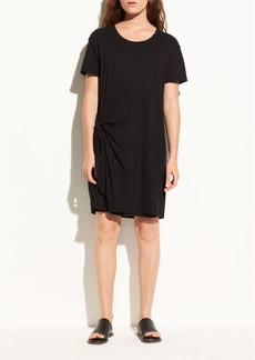 Side Tie Cotton Dress