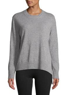 Vince Side-Tie Crewneck Cashmere Sweater
