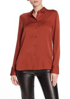 Vince Silk Blend Slim Fit Blouse