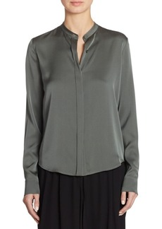 Vince Silk Button-Down Blouse