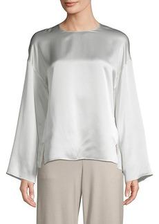 Vince Silk Kimono Sleeve Blouse