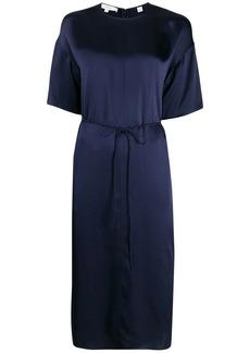 Vince silk midi-dress