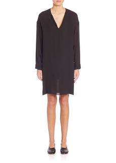Vince Silk Pintuck Dress