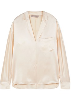 Vince Silk-satin Blouse