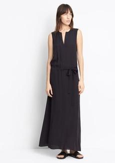 Silk Tie Waist Dress