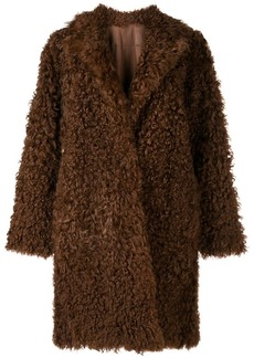 Vince single-breasted fur coat