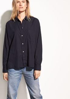 Single Pocket Cotton and Silk Shirt