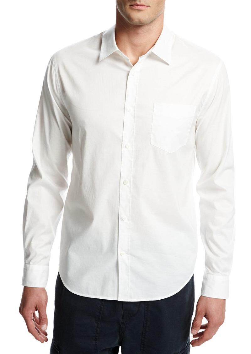 Vince Single-Pocket Cotton Sport Shirt