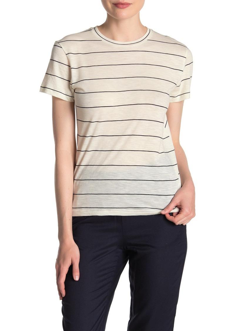 Vince Skinny Stripe Crew Neck T-Shirt