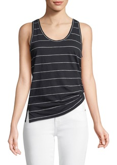 Vince Skinny-Striped Scoop-Neck Tank